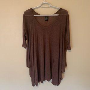 Women's oversized 3/4 sleeve T-shirt